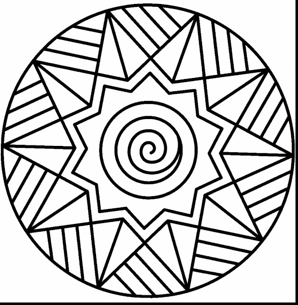 Astonishing Easy Mandala Coloring Pages For Kids With Printable Mandala  Coloring Pages And Free Printable Mandala