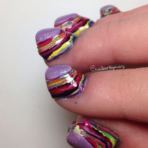 Fashion Beauty And Lifestyle Polish Mountain Nail Art
