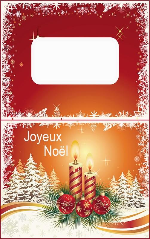 testclod: Carte de table pliée pour Noël, format carte bancaire