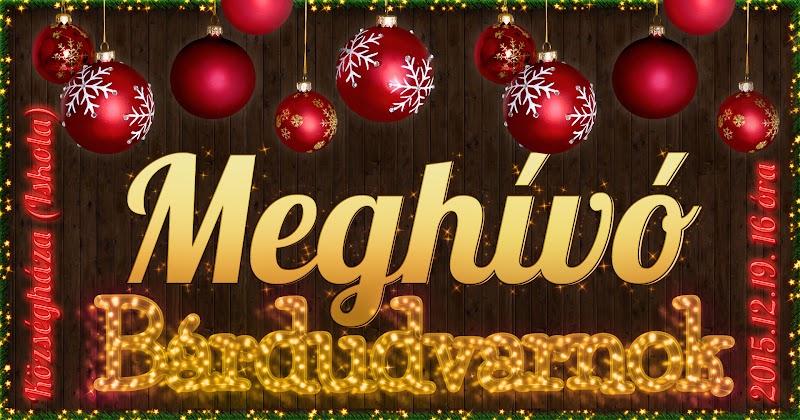 Meghívó Karácsony 2015 Bárdudvarnok