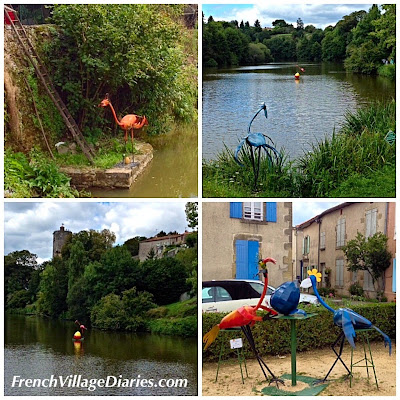 French Village Diaries Droles d'Oiseaux Vouvant Vendee 2014 street art