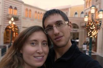 Photo: Kait and Daniele inside the Venetian Hotel and Casino, Las Vegas