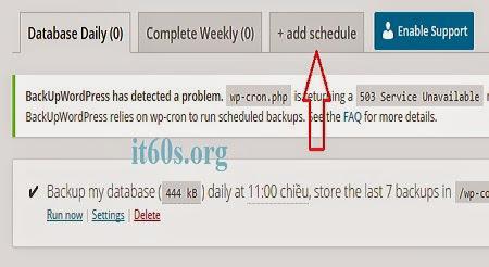 Cách sao lưu trang web tự động đơn giản trên Wordpress 4