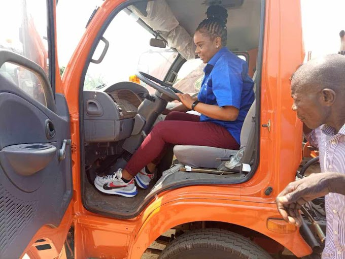 NEWMAP Donates Compact Truck To Cross River State Waste Management Agency.