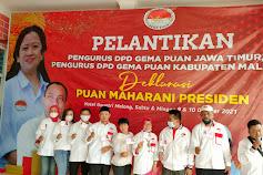 Deklarasi Pengurus DPD Gerakan Muda Pejuang Nusantara (GEMA) Oleh Puan Maharani Di Kabupaten Malang