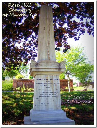 Grave of Dr. Ambrose Baber
