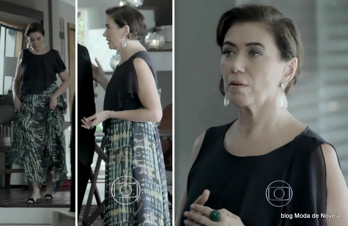 moda da novela Império, look da Maria Marta dia 24 de dezembro de 2014