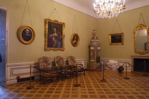 Living room of Wilanow Palace at Warsaw Poland