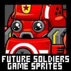 Futuristic Soldier Game Sprites