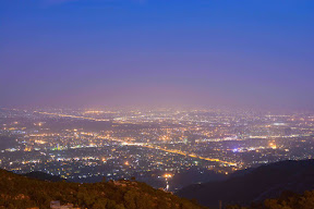 Night in Islamabad as seen from Pir Sohawa