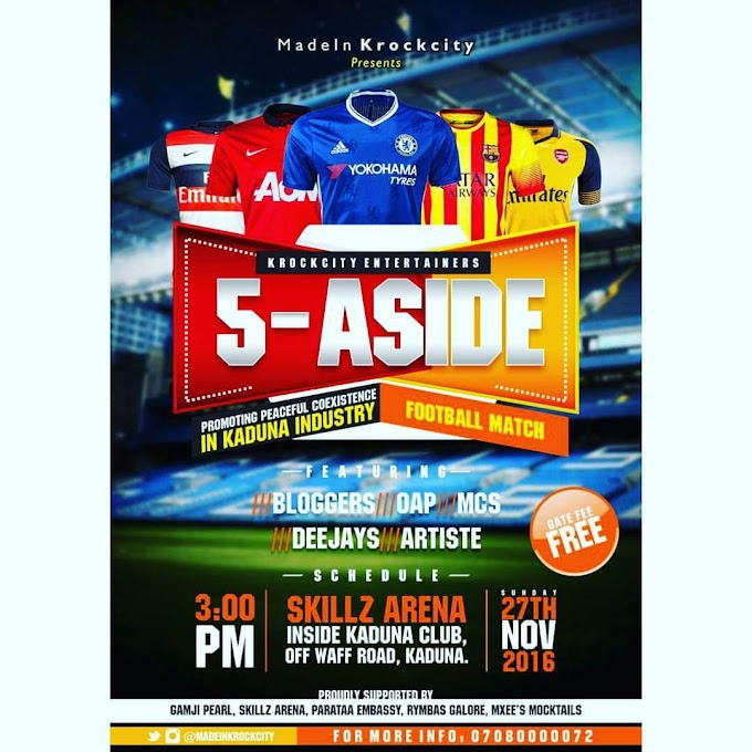 MIKC PRESENTS '5 ASIDE FOOTBALL MARCH' | @Madeinkrockcity