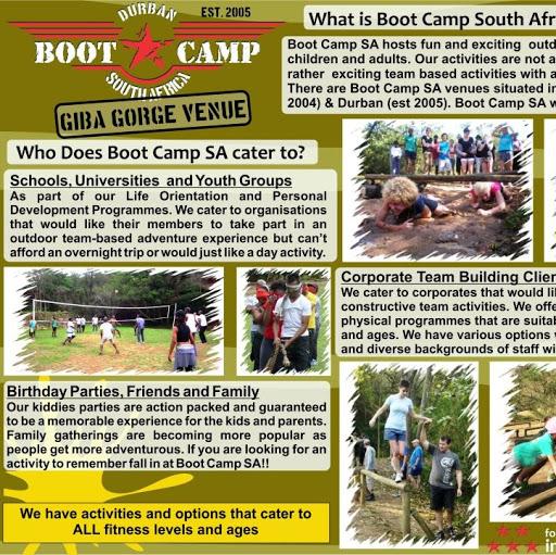 Boot Camp Durban Team Building & Kids Parties