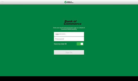 Bank of Commerce (MS) Tablet- screenshot thumbnail
