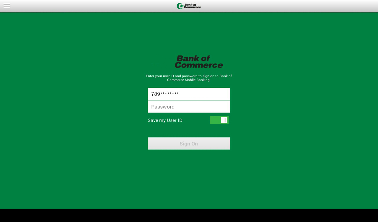 Bank of Commerce (MS) Tablet- screenshot