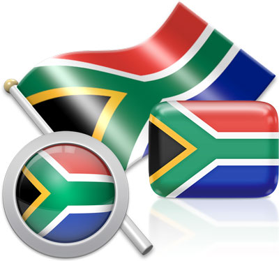 South African flag icons pictures collection