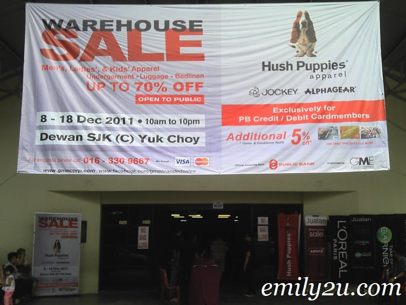 Hush Puppies Warehouse Sale