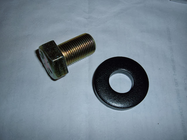 1957 to 1966  364-401-425 .. Heavy duty washer and grade 8 bolt. 12.00