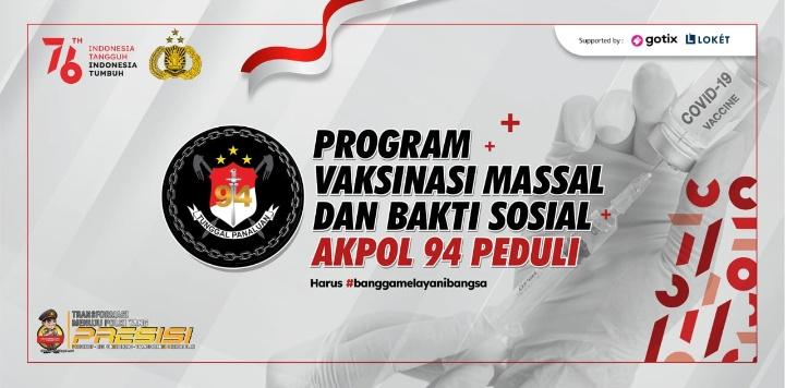 Dukung Program Pemerintah, Akpol 94 Gelar Vaksinasi Massal dan Bakti Sosial