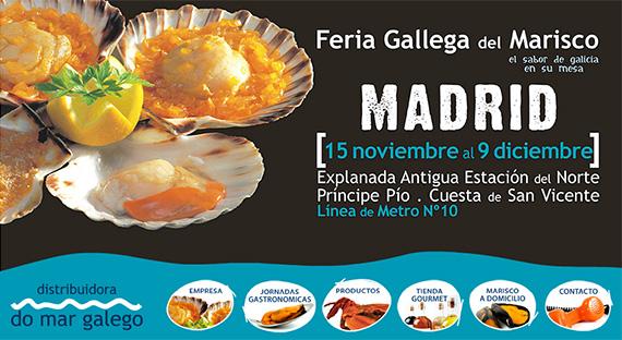 Feria Gallega del Marisco en Príncipe Pío, hasta el 9 de diciembre
