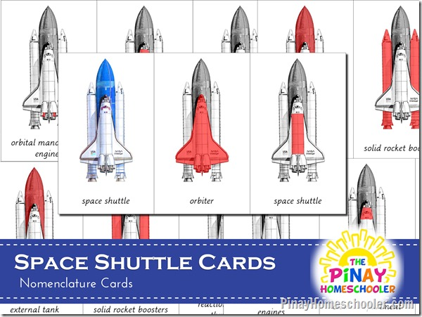Parts of Space Shuttle Montessori
