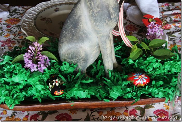 Easter Eggs in Centerpiece