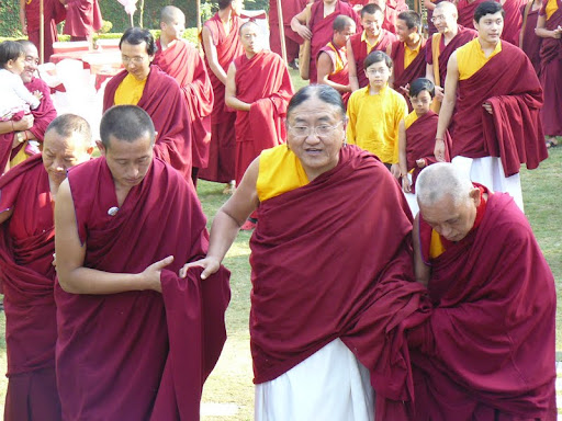 His Holiness the Sakya Trizin with Lama Zopa Rinpoche, Dheradun, 2008