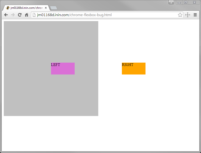 CSS flexbox rendering bug with justify-content starting in