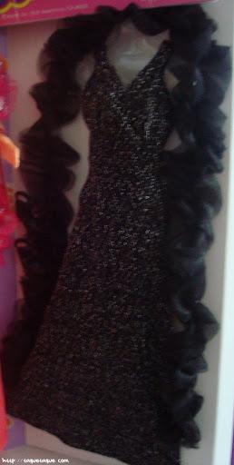 mi Babie Favorita 1977 - Barbie Superstar: conjunto negro adicional, con complementos: estola y zapatos a juego