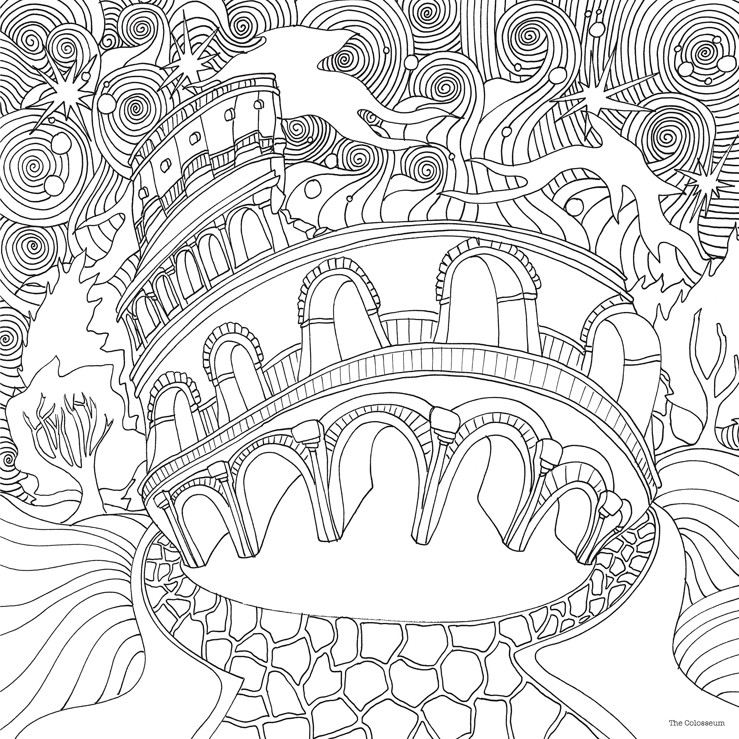 coloring pages of mystical characters - photo#45