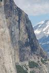 Horsetail falls trickling down the granite.