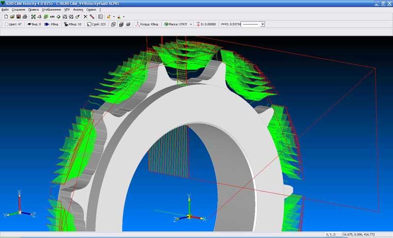 Сквозной технологический процесс, токарная и фрезерная обработка в одном файле по одной модели