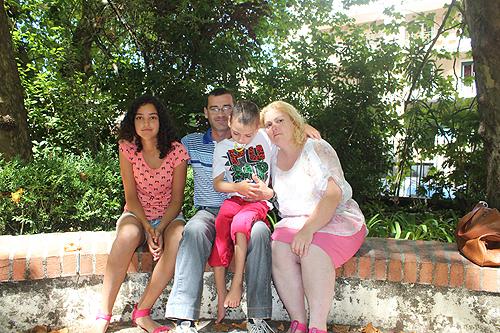 David acompanhado pela família
