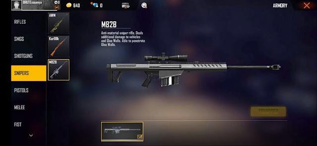 Free Fire: Oyundaki en iyi 3 keskin nişancı tüfeği