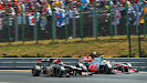 Raikkonen passing Perez