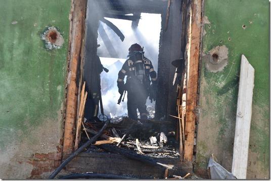 incendiu casa pompier