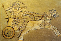 Sumerian Anunnaki warriors on a chariot archers