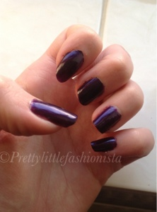 Barry M vivid purple on the nails