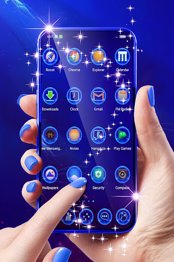 Best Blue Launcher For Android  screenshots 2