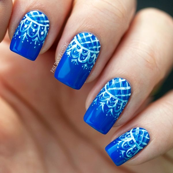 Lace Designed Nail Art 2016 You will surprise | Fashionte