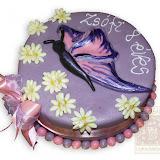 14. kép: Formatorták (lányoknak) - Lila-pillangós torta