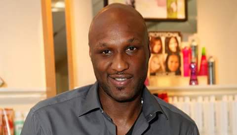 Lamar Odom face showning image
