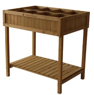 herb garden stand, stylish herb garden table, herb garden, plant table
