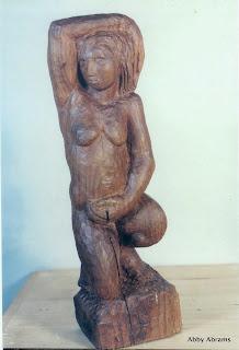 Wood Nymph, walnut, 15in.h