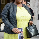 WWW.ENTSIMAGES.COM -  Alison Hammond   leaving    The Design Collective for Evans at The Freemasons Hall, LondonSeptember 16th 2014Show hosted by Arcadia Group owner Sir Philip Green as plus size retailer Evans makes its debut on the London Fashion Week schedule.                                                   Photo Mobis Photos/OIC 0203 174 1069