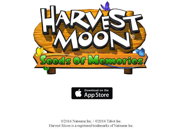 Kabar bangga tiba pribadi dari pihak Natsume  Harvest Moon Seeds of Memories Resmi di Rilis Untuk iOS
