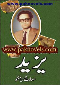 Yazeed  is a very well written complex script novel which depicts normal emotions and behaviour of human like love hate greed power and fear, writen by Manto k Afsany , Manto k Afsany is a very famous and popular specialy among female readers