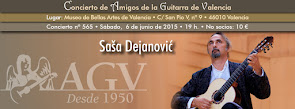 Concierto de Saša Dejanović, en Amigos de la Guitarra de Valencia