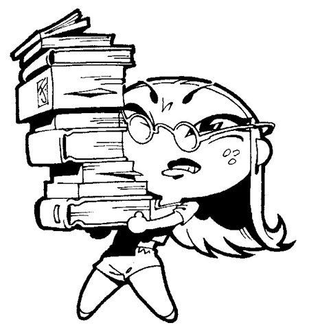 muchacha estudiosa
