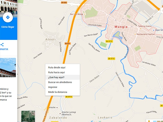 Datos en Google Maps