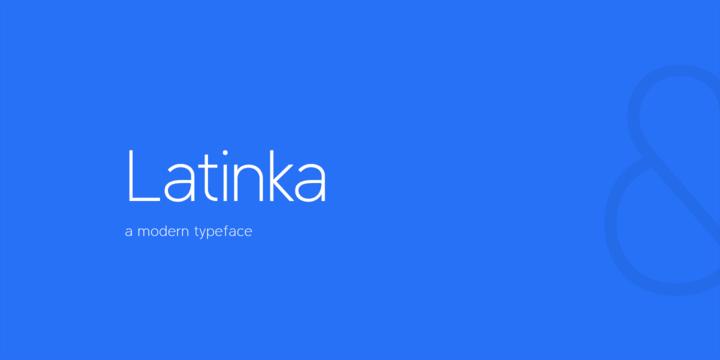 Download Latinka Font Family From Jaroslav Zavodny